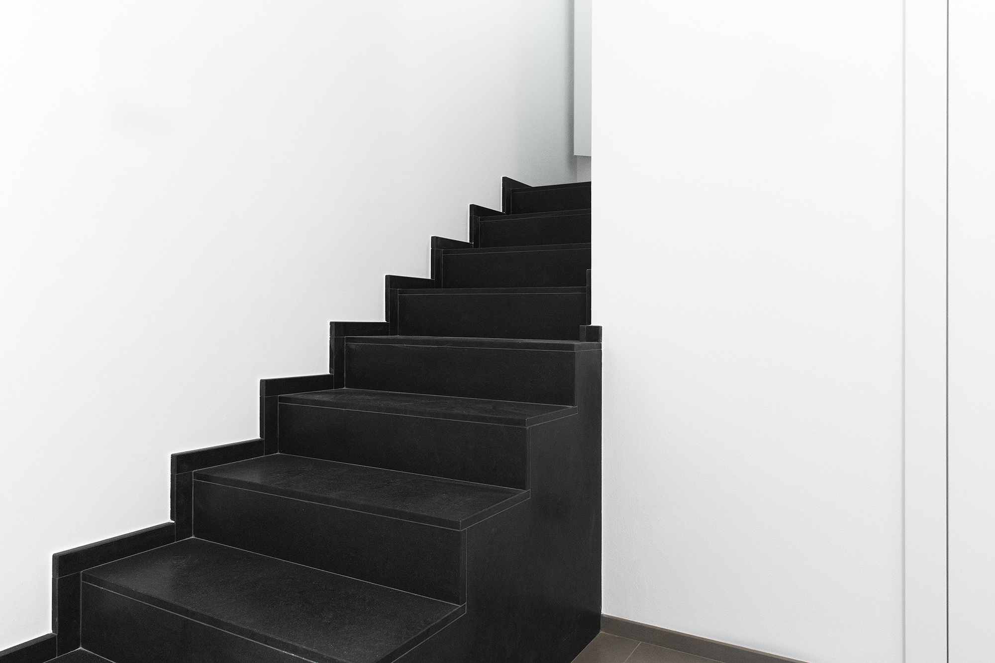 architetto brischetto parabita progettazione villetta unifamiliare particolare scala